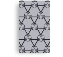 Triangle Grayscale Canvas Print