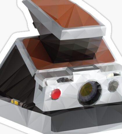 Retro Polaroid SX-70 Camera Polygon Art Sticker