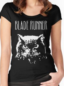 Blade Runner owl Women's Fitted Scoop T-Shirt