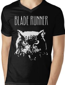 Blade Runner owl Mens V-Neck T-Shirt
