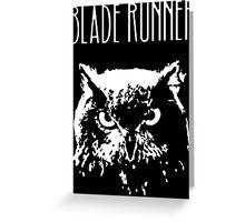 Blade Runner owl Greeting Card