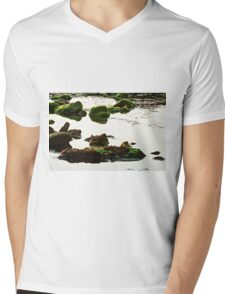 The passetto rocks and water, Ancona, Italy Mens V-Neck T-Shirt