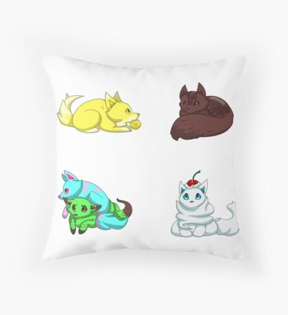 Dessert Pups Throw Pillow