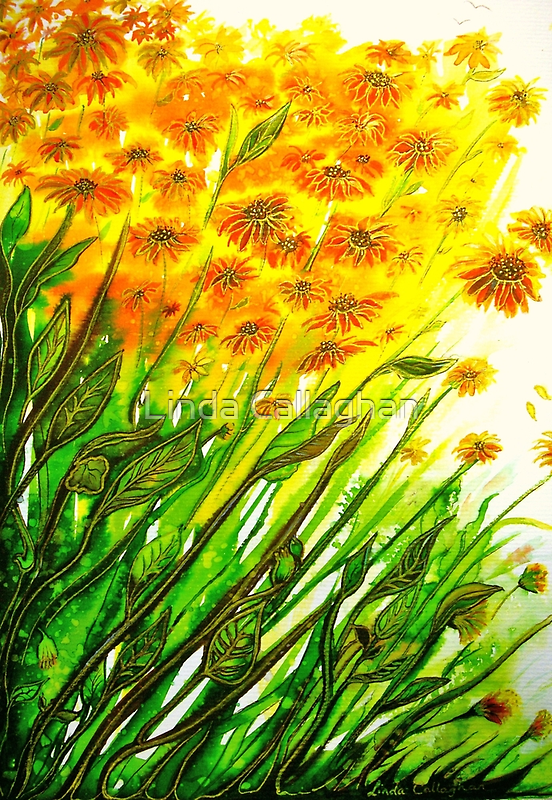 Sizzling Sunflowers  by © Linda Callaghan