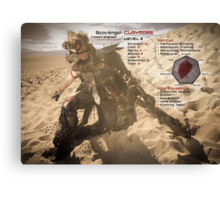 Claymore's Stats (Scavengers Poster) Canvas Print