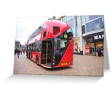 New London Bus Prototype in Bromley Kent. Greeting Card