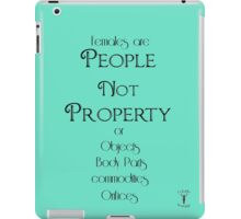 People not Property iPad Case/Skin