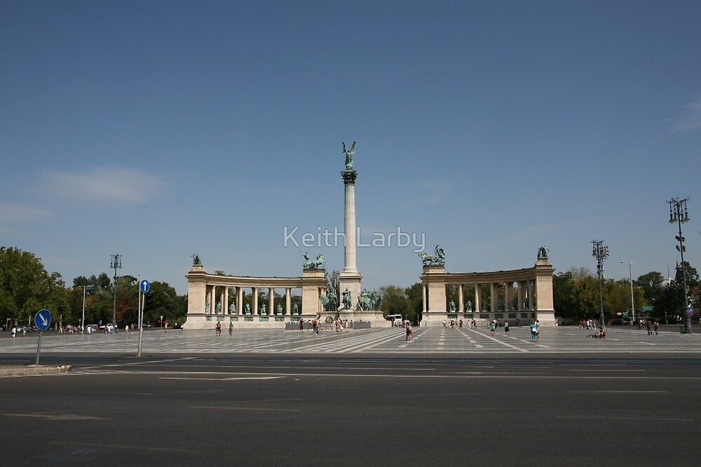 Heroes' Square Budapest Hungary 2 by Keith Larby