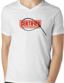 Certified Cable Tie Professional Mens V-Neck T-Shirt