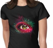 Magic Eyes Womens Fitted T-Shirt