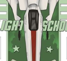 STARBUCK'S FLIGHT SCHOOL Sticker