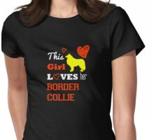 This Girls Love Dog Border Collie Womens Fitted T-Shirt