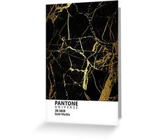 Black and Gold Marble Pantone Greeting Card