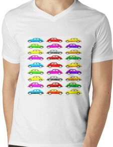 VW Multi Beetle Mens V-Neck T-Shirt
