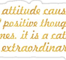 """A Positive attitude...""""Wade Boggs"""" Inspirational Quote Sticker"""