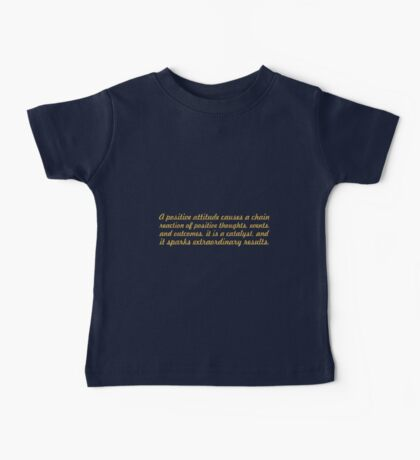 """A Positive attitude...""""Wade Boggs"""" Inspirational Quote Baby Tee"""