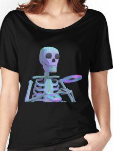 Skeleton Aesthetic   Vaporwave 80s inspired Women's Relaxed Fit T-Shirt