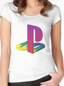 PlayStation Aesthetic Logo Women's Fitted Scoop T-Shirt