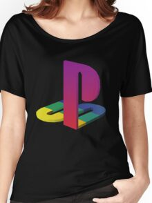 PlayStation Aesthetic Logo Women's Relaxed Fit T-Shirt