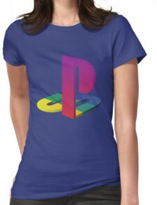PlayStation Aesthetic Logo Womens Fitted T-Shirt