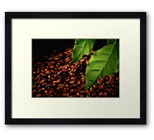 Black Coffee with Coffee Bean Framed Print