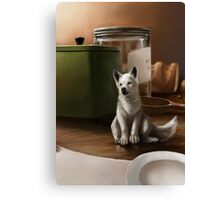 wolf pup Canvas Print