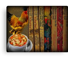 CHICKEN SOUP BOOK.. ITS GOOD FOR THE SOUL - PICTURE- CARD Canvas Print
