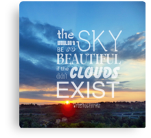 The beauty of the sky Canvas Print