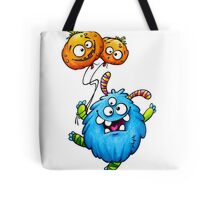 monster with pumpkin balloons Tote Bag