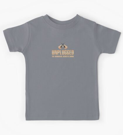 Unplugged acoustic sound Kids Tee
