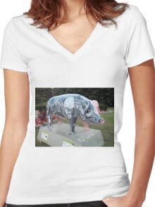 The Haminator Women's Fitted V-Neck T-Shirt