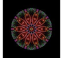 Fractal Pattern Color Kaleidoscope Photographic Print