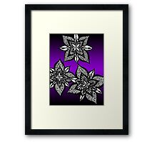Floral Fantasy in Purple  Framed Print