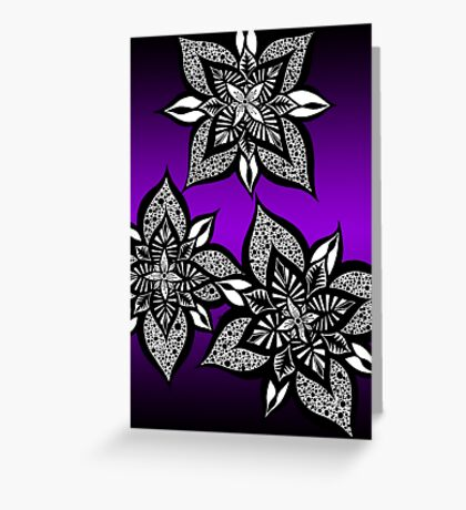 Floral Fantasy in Purple  Greeting Card