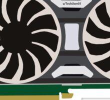 GTX 1080 Minimalist Sticker