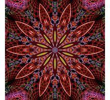 Fractal Pattern Color Kaleidoscope 02 Photographic Print