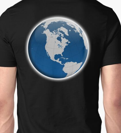 Globe, Planet, Planet Earth, with borders, Earth, Global Unisex T-Shirt