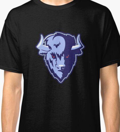 Buffalo Head Mascot Emblem. Classic T-Shirt