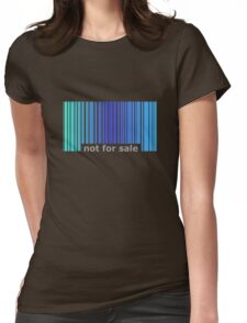 Not For Sale Barcode - Blues Womens Fitted T-Shirt