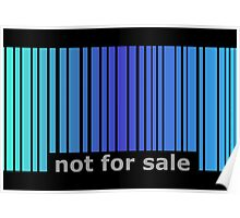 Not For Sale Barcode - Blues Poster