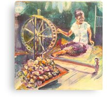Yarn Spinner Canvas Print