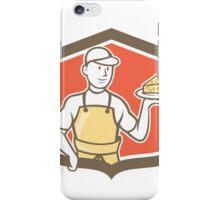 Cheesemaker Holding Parmesan Cheese Cartoon iPhone Case/Skin