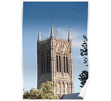 The central (main) tower, Lincoln Cathedral, Lincoln, UK Poster