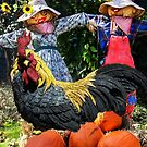 Rooster & Friends...Happy Autumn! by Heather Friedman