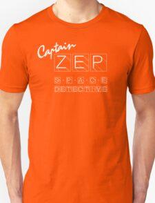 Captain Zep - Space Detective (white text) Unisex T-Shirt