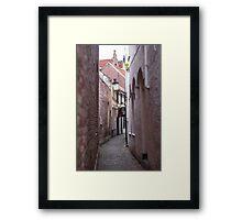 Narrow Street/Pass - Travel Photography Framed Print