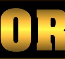 Vintage Golden Korg Synth Sticker