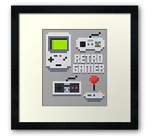 Retro Gamer T Shirt Framed Print