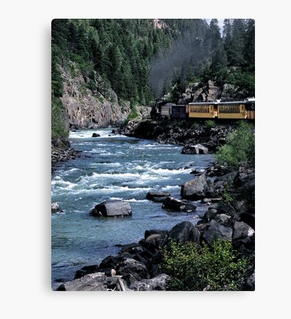 Steam Locomotive Canvas Print
