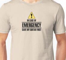Save my guitar (black) Unisex T-Shirt